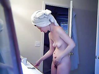 Young Hairy Wife After Shower