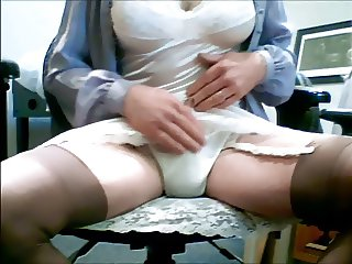 Skirt play to Orgasm