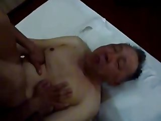 chinese old and young fuck