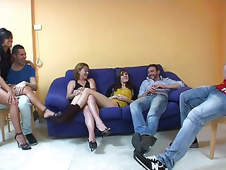 Two young girls with milf joins in orgy