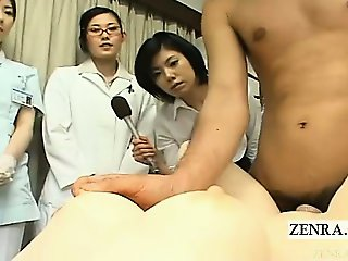Subtitle CFNM Japanese love doll intercourse group demo