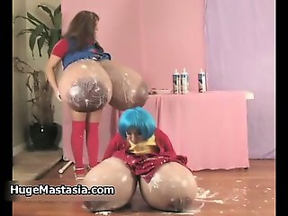 Busty babes go crazy spreading whipped part5