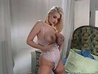 Busty blonde slut goes crazy part2