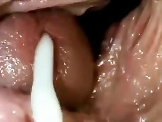 Her Fanny's View Of Your Cumshot