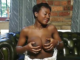 Sexy Petite Ebony Goddess Lactating Her Big Tits