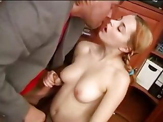 Schoolgirl Fucked In the Office