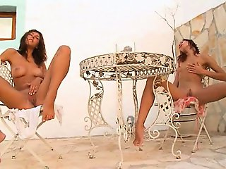 Two russian chicks naked grass