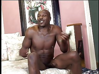 Sexy ebony cunt gets cock pounded