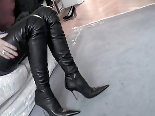 Girl in Thigh High Boots