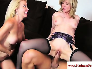 Nina Hartley threeway with mature Erica