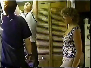milf Xena fucked in the kitchen threesome