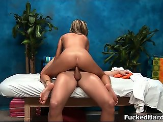 Hot blonde slut gets horny riding part1