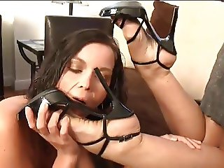 Feet worship and toe sucking