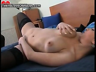 Horny older dude is jerking his boner part5