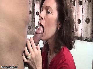 Gorgeous milf is fucked by young guy part6