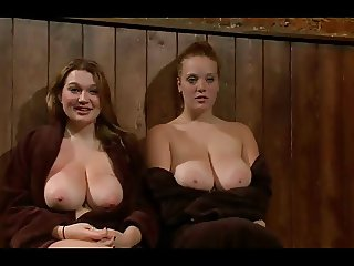Big Titted Redhead And Friend Publicly Punished