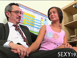 Sexy riding with older teacher