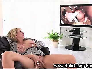 Toy masturbating british milf