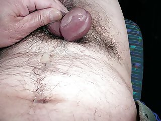 Japanese old man erect penis Close-up slide show