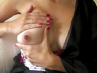 girl gets milk out of one of her boobs hd