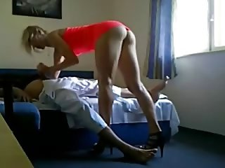 Cute High Heels Blond Escort Secretly Filmed On Camera