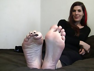 Candid Interview of her Feet 2