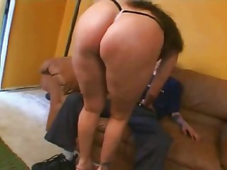 Fat Chubby GF playing with her Pussy and riding cock-P1