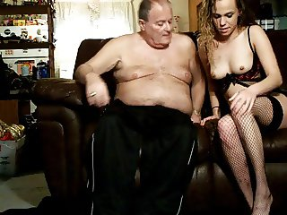 Paige fucks me on the sofa again