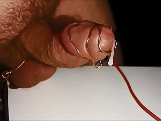 Electricity pumped penis to cumshot
