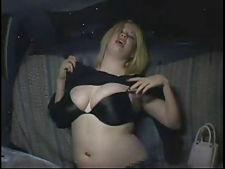 Very Horny Fat Chubby Party Girl cumming in Taxi Cab-P1
