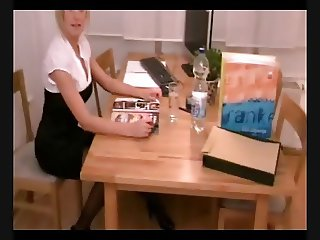 Sexy German Secretary takes care for the dick