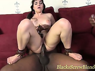 Big black cock fuck and facial