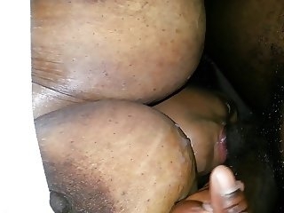 Black Granny,  Titfuck to Facial