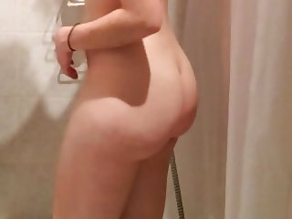 sexy naked girl in the shower part1