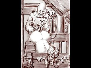 Cartoon art vintage bondage slideshow