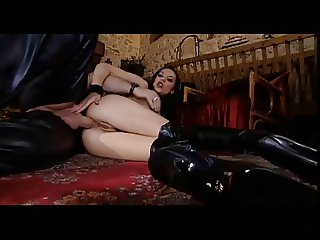 Thigh boots anal