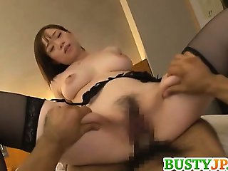 Busty Japanese babe is eager to have hard sex