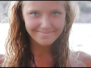 J15 Young nude posing 5 - Blonde on beach