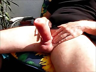 I shake my cock until the sperm splashes out
