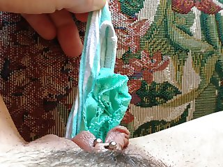 Girl's POV panty stuffing