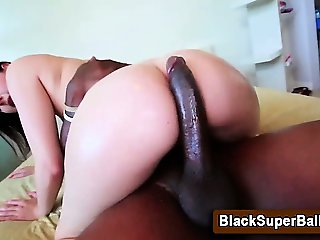 Slut rides big cock after sucking