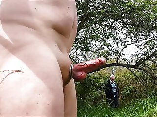 Flashing my hard cock