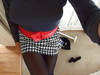 Short Skirt and Black Tights