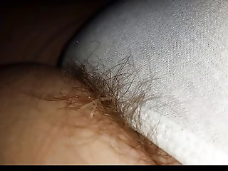sneaky look at the wifes dreaming pubes hanging from pantys