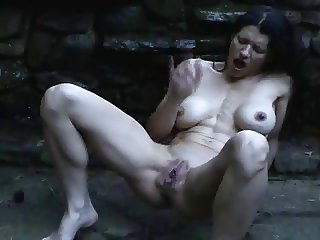 Woman squirting in the rain