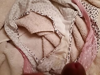 Jerking on wife's dirty panties
