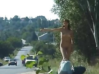 Naked hitch hiker