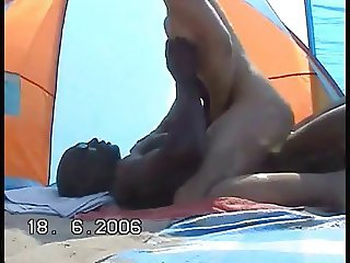 Slut Wife Fucks Black Guy On Beach