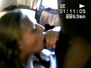 Wife trying black hubby films VHS