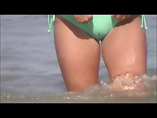 quick beach walking crotch shot 36 wet cameltoe